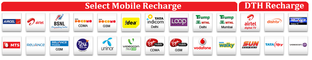 All in one recharge:Single Sim Recharge Service | Single Sim